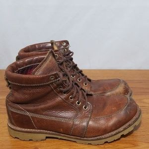 LL Bean Brown Leather Sportman Hunting Boots